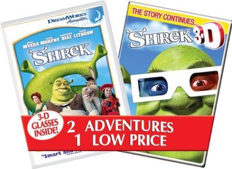 Shrek & Shrek 3-D [DVD] [2001] [Region 1] [US Import] [NTSC]
