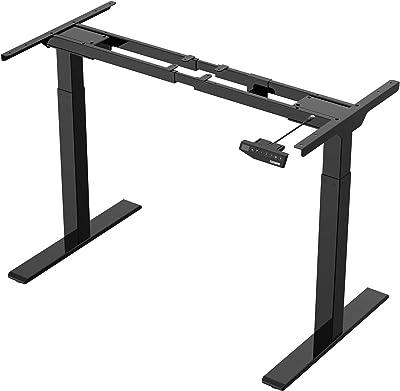 FLEXISPOT Black Height Adjustable Desk, Steel, Electric