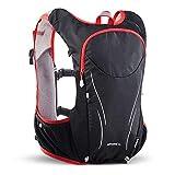 Belleashy Mochila de camping 5 l chaleco de hidratación mochila de agua para senderismo, correr, ciclismo, maratón, hidratación, camping, senderismo, viajes, exteriores, talla M, color: rojo;