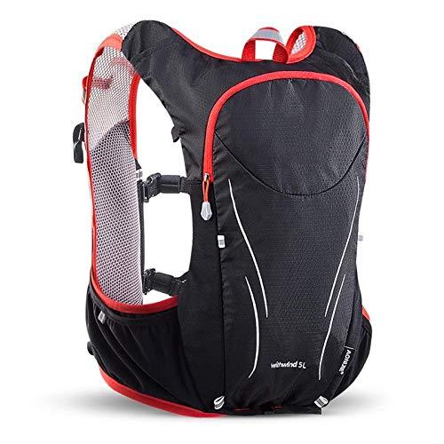 Belleashy - Zaino da campeggio da 5 l, ideale per escursioni all'aperto, corsa, ciclismo, maratona, per campeggio, trekking, viaggi all'aperto (taglia: M, colore: rosso)