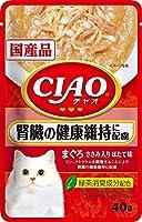 CIAO(チャオ) パウチ 腎臓の健康維持に配慮 まぐろささみ入りほたて味 40g×16袋【まとめ買い】
