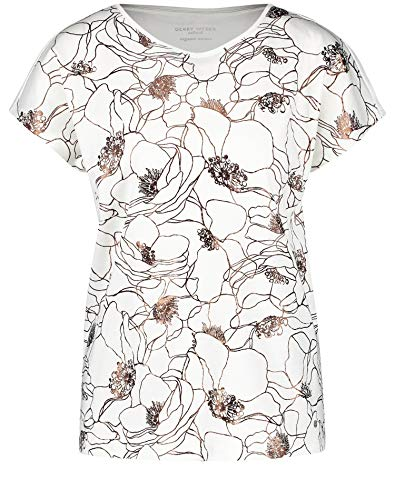 Gerry Weber Damen Shirt Mit Folienprint Organic Cotton Leger Off-White 44