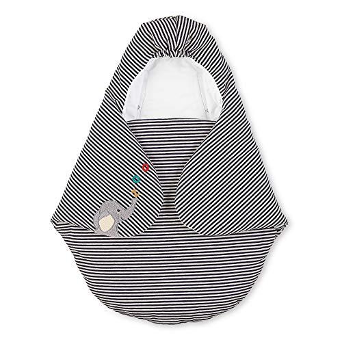 Sterntaler Einschlagdecke Kuschelzoo, Elefant, Wattiert, Alter: Für Babys ab der Geburt, 75 x 90 cm, Schwarz/Weiß