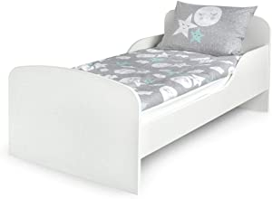 White Kids Children s High Quality Bed Leomark with Foam Mattress 140 70  Junior Toddler Girl Boy Cot Very Easy Assembly and Storage