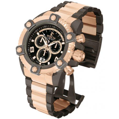 Invicta 13017 Arsenal Reloj de acero inoxidable con esfera negra de cuarzo Chrono Gun-Rs