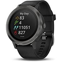 Garmin vivoactive 3 GPS Smartwatch with Built-in Sports APPS (Black & Gunmetal)