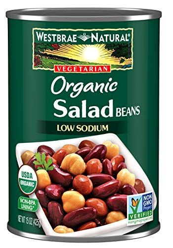 Westbrae Natural Organic Salad Beans, 15 Ounce Cans (Pack of 12)