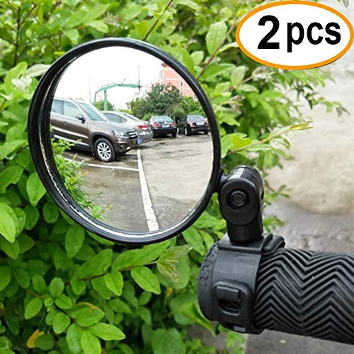 2-pack Adjustable Rotatable Handlebar Glass Mirror for Mountain Road Bike Cycling Bicycle