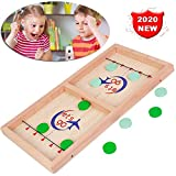 Slingshot Table Fast Ice Hockey Game,Hockey Game Tabletop Toy Interactivo para Padres E Hijos,Champion Tabletop Table Game para Party Home Parent-Child Toys (28 * 55 * 2.7cm)