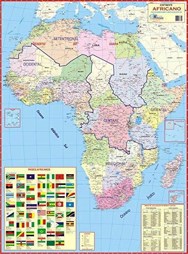 MAPA GEOGRÁFICO DA ÁFRICA - POLÍTICO