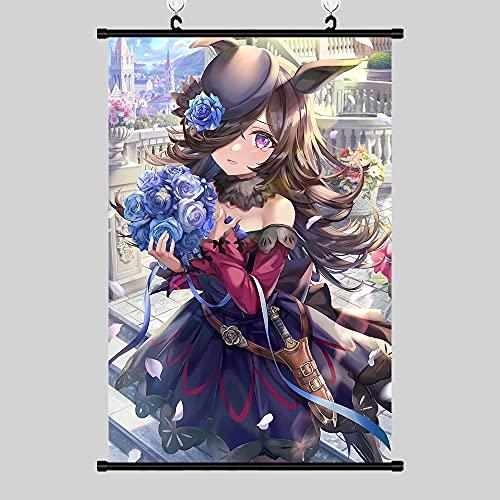 DMCMX Scroll Malerei Umamusume Reis Dusche Blume Ball Anime Spiel Charakter Dekorative Malerei wasserdichte Leinwand Wandbilder Sehr geeignet Für Dekoration Urlaub Geschenke
