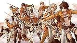 Póster Web Shingeki No Kyojin Anime Girls Anime Anime Boys Impresión 30,5 x 45,7 cm (Multicolor) W-5655