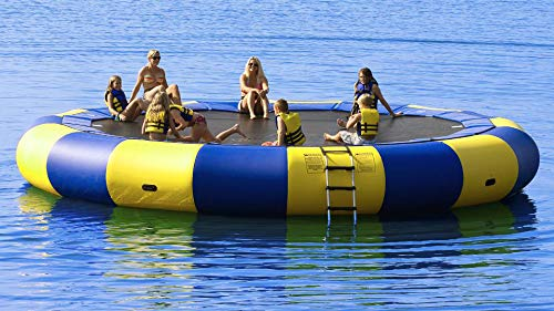 Foammaker Inflatable Water Trampoline Series Splash Padded Water Bouncer Inflatable Bouncer Jump...