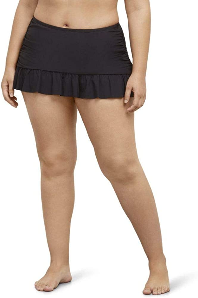 Kenneth Cole Reaction Women's Plus-Size Ruffle Shuffle Rouched Skirted Bottom