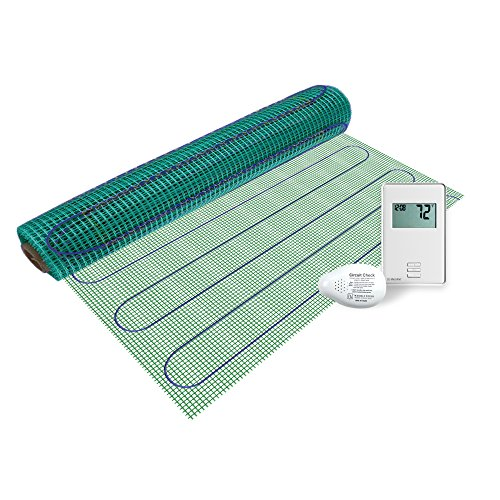 WarmlyYours TRT120-KIT-ON-3.0x05 Tempzone Easy Electric Floor Heating Mat Kit, 15 sq. ft, Non-Programmable GFCIThermostat