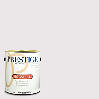 Prestige Paints P300-P-SW6826 Interior Paint and Primer in One, 1-Gallon, Eggshell, Comparable Match of Sherwin Williams Whimsical White, 1 Gallon, SW32-Whimsical