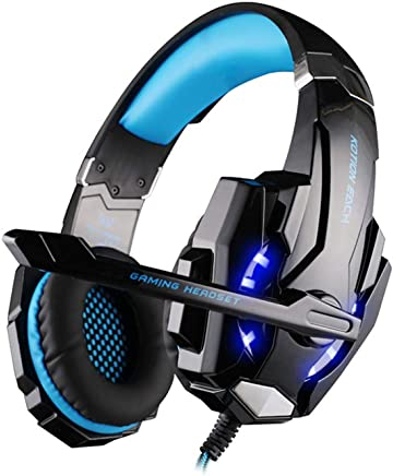 Gaming Headset Per PS 4 PC | Cuffie Da Gioco Professionali Da 3 5 Mm | Microfono Stereo Con Riduzione Del Rumore E Controllo Del Volume | Design A Basso Profilo (blu) - Trova i prezzi più bassi