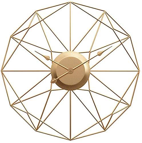 Reloj Pared Vintage, Diseño Antiguo Grande, Decoración del Hogar Regalo De Metal Rayos Solares En 3D Relojes Silenciosos Sala De Estar De Mediados De Siglo, Sin Tictac
