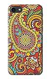 Innovedesire Floral Paisley Pattern Seamless Hülle Schutzhülle Taschen für iPhone 7, iPhone 8, iPhone SE (2020)