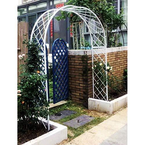 S-AIM Arco de jardín de Metal para Boda, cenador de pérgola con Extremos Afilados para Varias Plantas trepadoras, jardín al Aire Libre, césped, jardín, deshierbe, Blanco