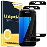 [2 Pack] UniqueMe Fully Coverage Screen Protector for Samsung Galaxy S7 Tempered Glass Screen Protector [Not for Samsung S7 Edge] HD Clear [Anti-Scratch] [Bubble Free] 3D Film-Black