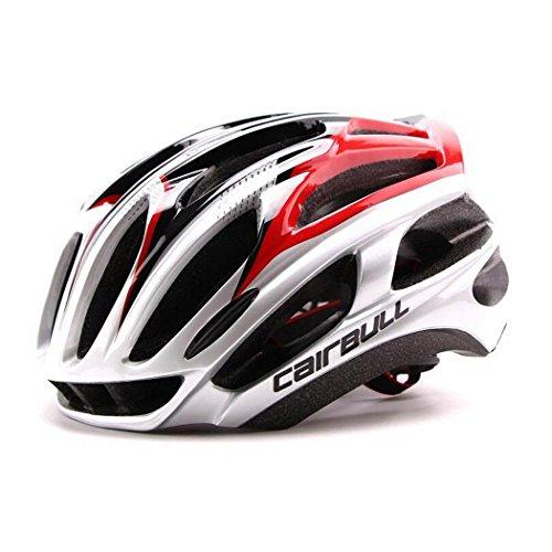 Queshark Casco de bicicleta Casco de bicicleta MTB Casco de bicicleta ultraligero (Rojo negro)
