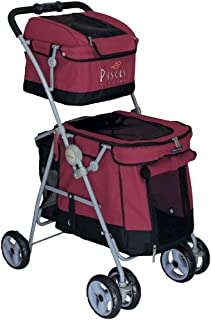 POUSSETTE CHIEN Pet Stroller Dog Duo with 2 ETAGES Buggy