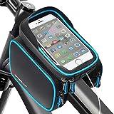 HEAWAA Fahrrad Rahmentasche Wasserdichter Lenkertasche Handyhalterung Handyhalter Fahrradtasche mit Sonnenblende