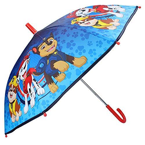 Paw Patrol Kinder Regenschirm Stockschirm, ∅ 72 cm, blau