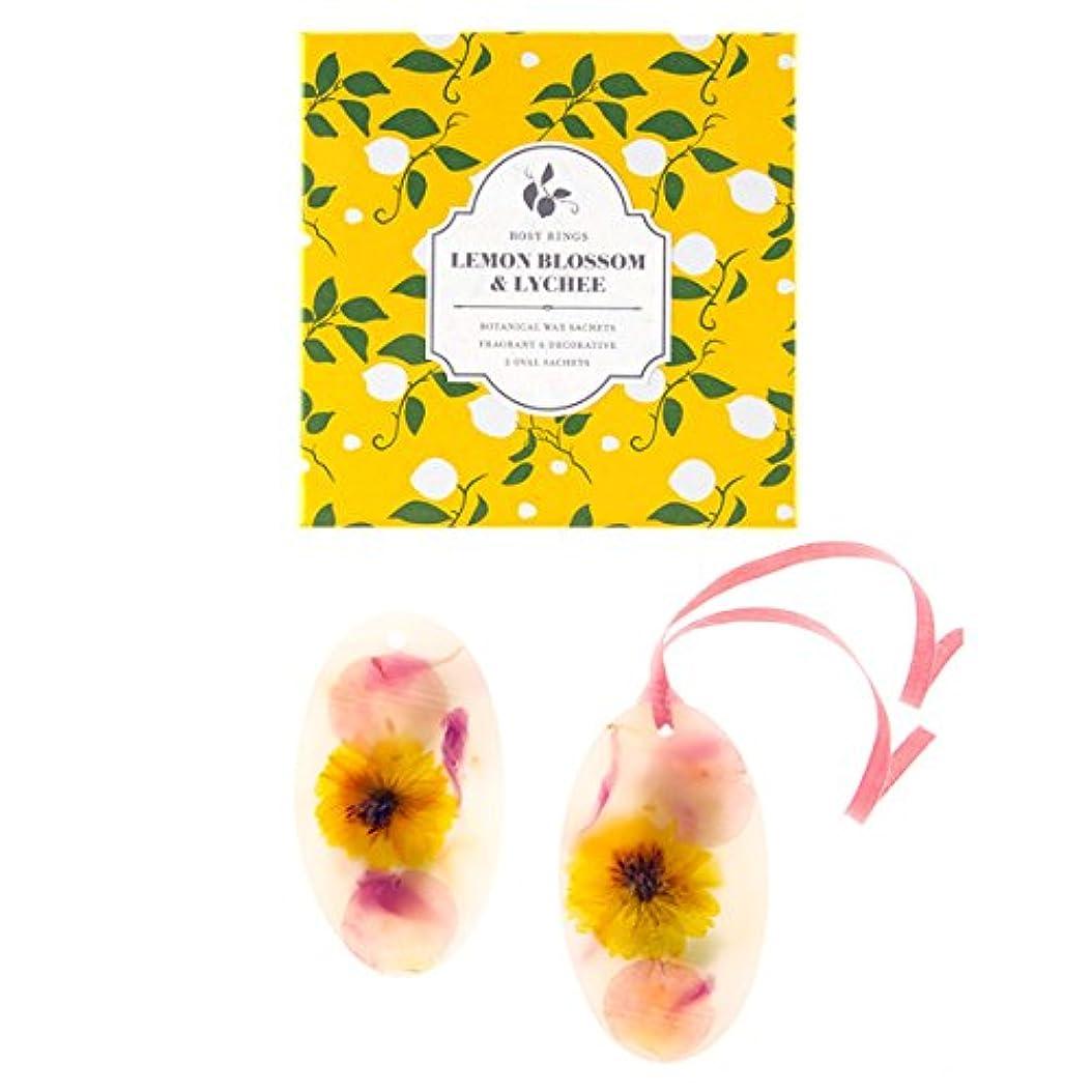 肯定的うがいマニフェストロージーリングス ボタニカルワックスサシェ オーバル レモンブロッサム&ライチ ROSY RINGS Signature Collection Botanical Wax Sachets – Lemon Blossom & Lychee