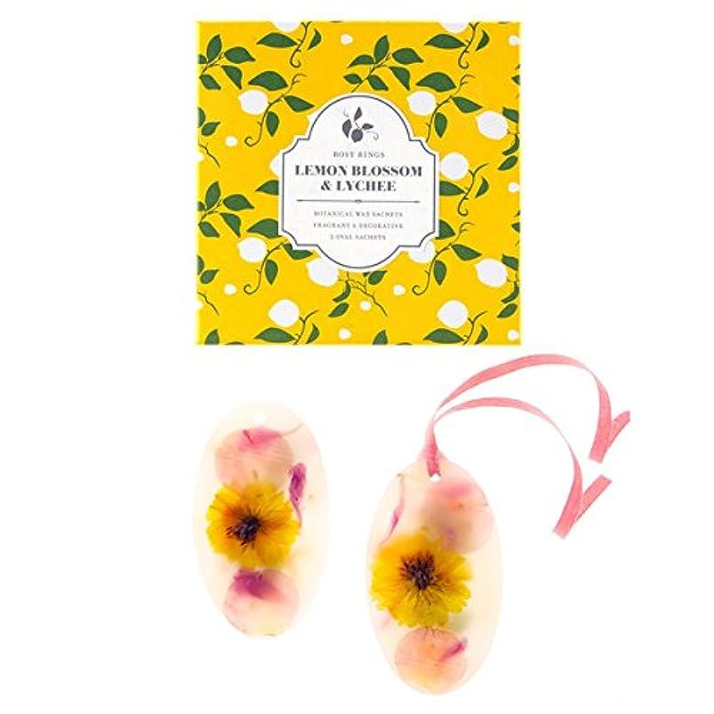 慢溶接バリケードロージーリングス ボタニカルワックスサシェ オーバル レモンブロッサム&ライチ ROSY RINGS Signature Collection Botanical Wax Sachets – Lemon Blossom & Lychee