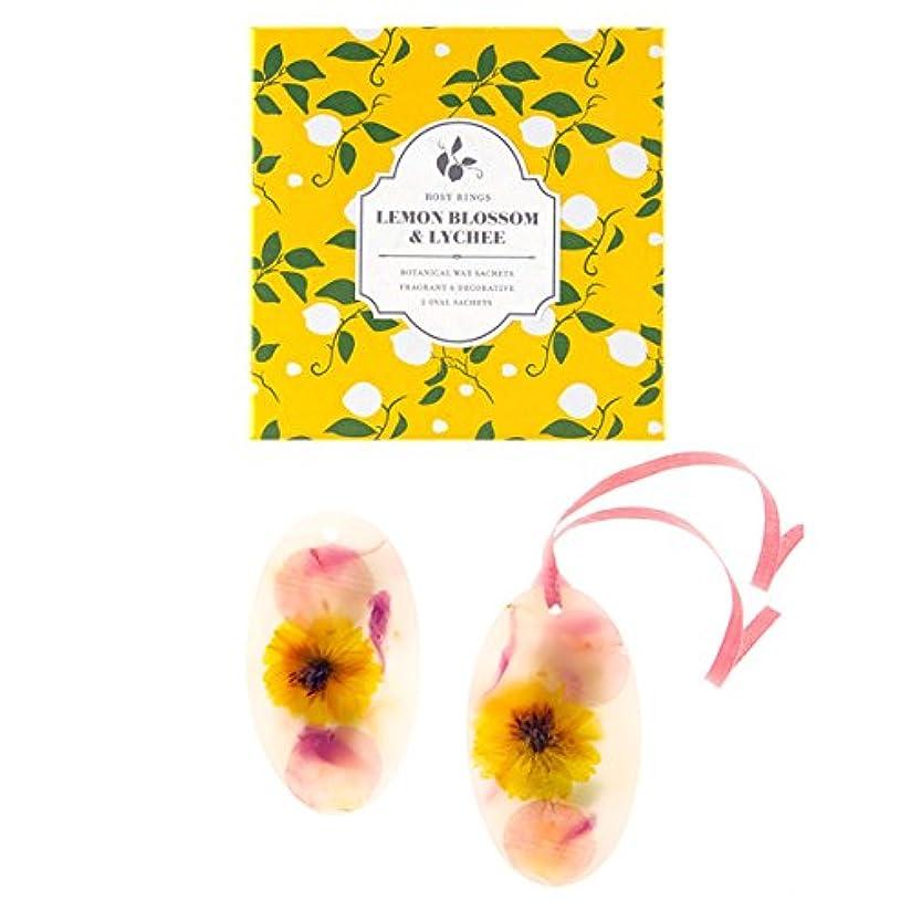加速する市区町村専門ロージーリングス ボタニカルワックスサシェ オーバル レモンブロッサム&ライチ ROSY RINGS Signature Collection Botanical Wax Sachets – Lemon Blossom & Lychee