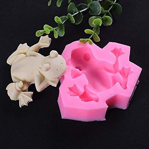 SunYueY - Stampo da forno, a forma di rana, per cioccolatini, sapone, decorativo, durevole, ecologico, per cubetti di ghiaccio fai da te rosa