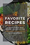 My Favorite Recipes: Blank Recipe Books To Write In Healthy Recipes Like Low Carb Recipes - Recipe Notebook For Vegan Recipes - Star Rating Recipes Journal For A Perfect Wife Or Husband | Vol. 9