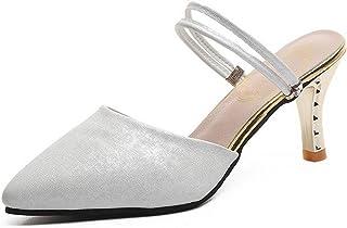 BalaMasa Womens ASL06718 Pu Heeled Sandals