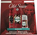 Old Spice 3 pcs Gift Set - Body Wash, Antiperspirant and Body Spray (Bearglove)