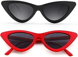 Cat Eye Sunglasses for Women VintageRetro Style Plastic Frame UV 400 Protection
