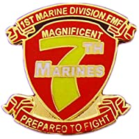 "U.S. MARINES, Marines 7th Regiment - Original Artwork, Expertly Designed PIN - 1"""