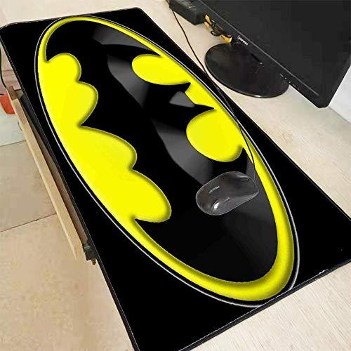 JIUYUE Tapis De Souris XGZ Batman Logo Grand Tapis Souris Gamer Verrouillage Edge Clavier Tapis De Souris Bureau De Jeu Tapis De Souris for CS GO LOL Jeu Dota XXL (Color : 400X800X3MM)