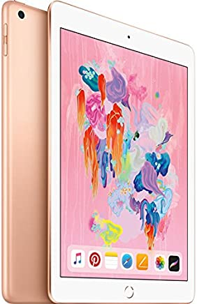 iPad (2018 Latest Model) with Wi-Fi only 32GB Apple 9.7in iPad MRJN2LL/A Gold (Renewed)