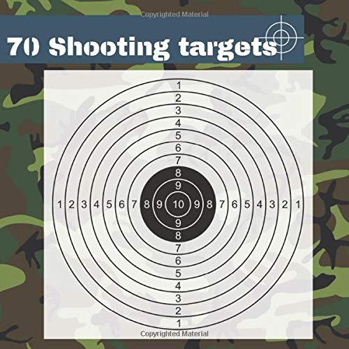 70 Shooting Targets: 8.5' x 8.5' | Silhouette black | firearms, airsoft, BB,...