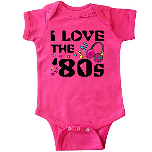 inktastic - I Love The '80s-Musical Notes Infant Creeper 6 Months Hot Pink 2e076