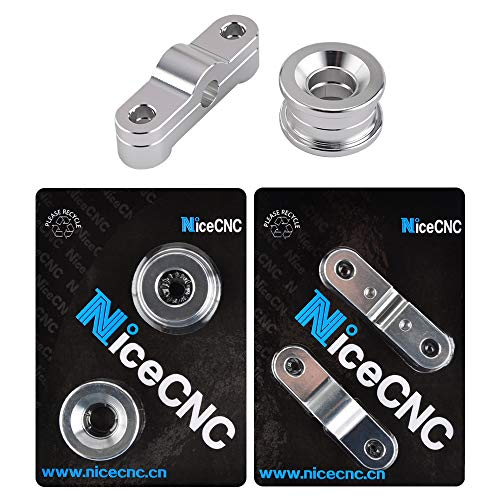 NICECNC Silver Front & Rear Solid Billet Shifter Bushing Combo compatible with Acura Integra 1994-2001,Honda Civic 1988-2000,CRX 1988-1991,Del Sol 1992-1997