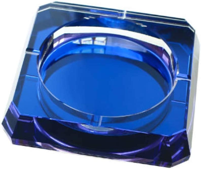 TEAYASON Crystal Ashtray Glass Tabletop High-End Square Max 40% OFF Ash Gorgeous Tray