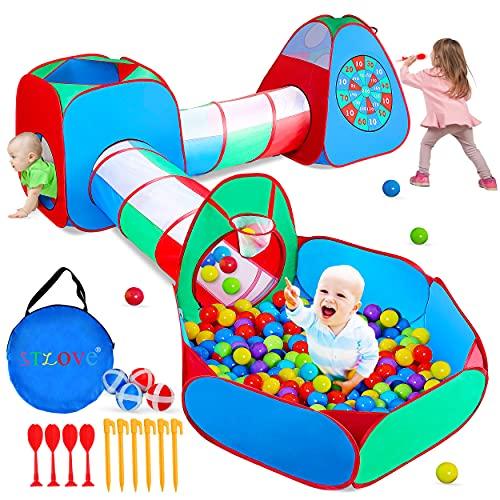 STLOVe Carpa niños,Túnel De Juego Personalizado para Juguetes De Carpa Emergente para Niños(Sin Pelota) Juguetes Cumpleaños para Niñas Niños Bebés Tiendas De Campaña
