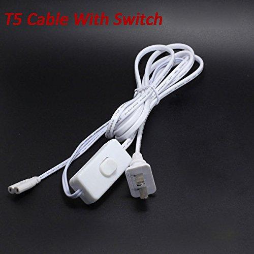 Bazaar T5 2.2 M LED Tube Light Connect Wire kabel met schakelaar voedingskabel verlengkabel accessoires