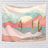 Naturaleza puesta de sol paisaje tapicería pared Hanging abstract montaña tamaño grande tapices sala sala de estar Dorm itorio rosa tapicería domiciliar Decor 78 inch x 59 inch