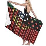 Lsjuee Toalla de baño, 80X130Cm Código de Barras Bandera de EE. UU. Portugal Toallas de baño Toallas de baño de Playa súper absorbentes para Gimnasio Playa SWM SPA