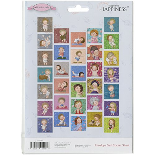 Ultimate Crafts gapchinska envelop Seal stickers, papier, meerkleurig, 21,1 x 15,3 x 0,1 cm