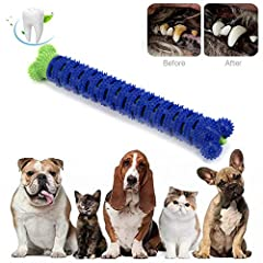 Suitable Pets: 10-40 lbs Dog, Item Size:25 x 4.5cm/ 9.84 x 1.77in.For the first time playing, please stay with your pets Self-brushing toothbrush for dogs. The more they chew, the cleaner their teeth. Ideal for daily hygiene between dentals for dogs ...